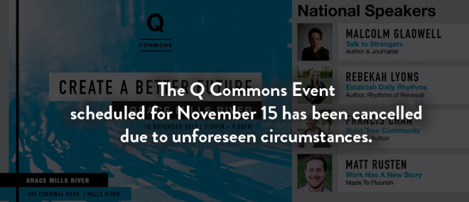 """CANCELLED: Q Commons, """"Create a Better Future"""""""